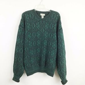 VTG Christopher Hayes L Wool Pullover Sweater